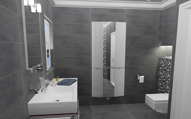 Badkamer oud gastel strakke badkamer met kiezel mozaiek - Badkamer met mozaiek ...