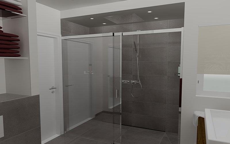 20170415 214050 badkamer douche glas - Glas betegelde badkamer bad ...