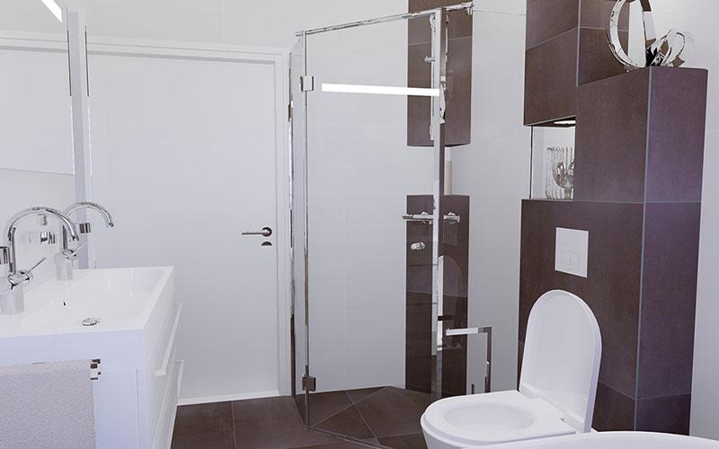 Inloopdouche Met Douchecabine : Badkamer sprundel vijfhoekige douchecabine als inloopdouche