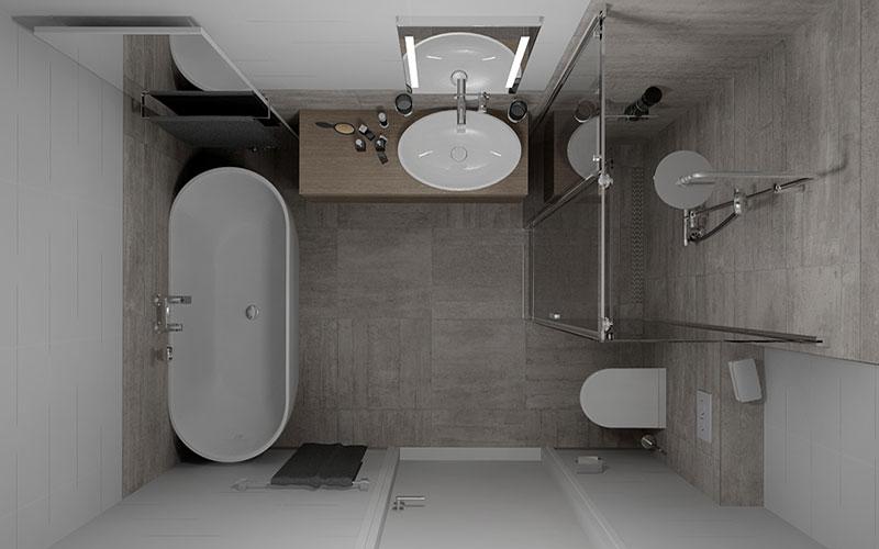 Badkamer steenbergen badkamer met vrijstaand bad - Muur tegel installatie ...