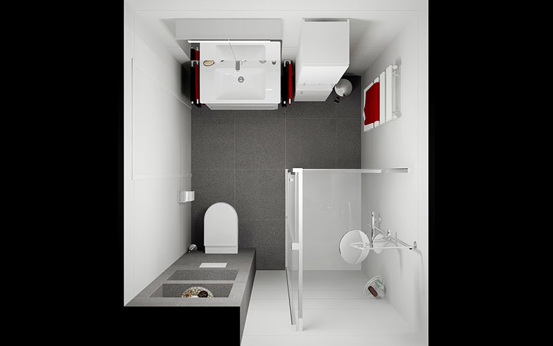 Kast Met Nisjes : Kast boven hangtoilet