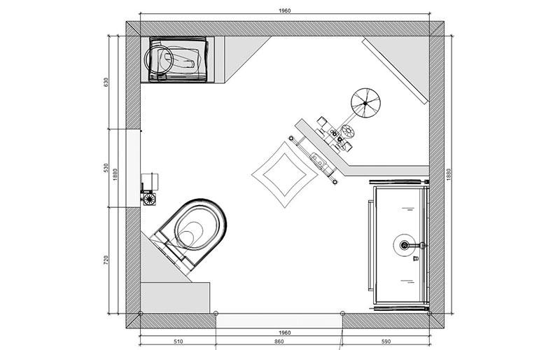 Badkamer willemstad kleine badkamer met inloopdouche - Kaart badkamer toilet ...