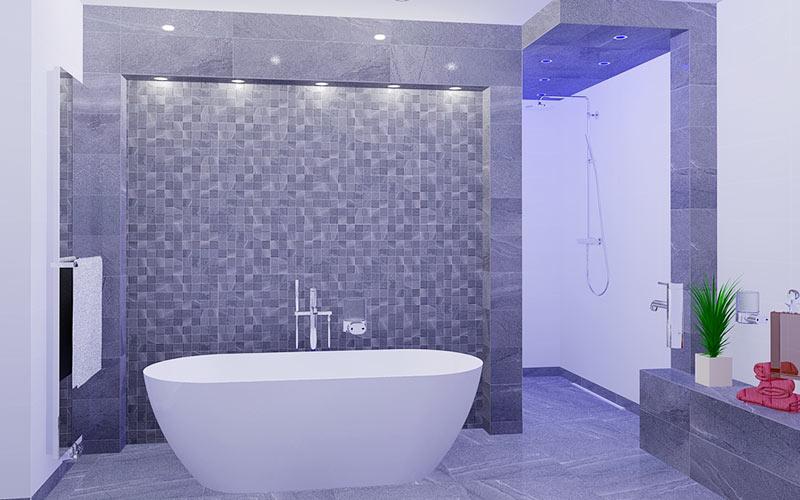 Badkamer zundert badkamer met vrijstaand bad - Badkamer m met bad ...