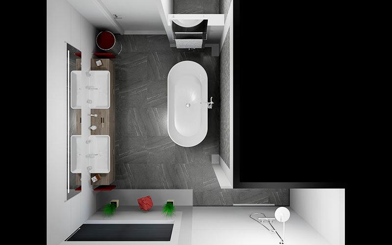 Badkamer Zundert, badkamer met vrijstaand bad