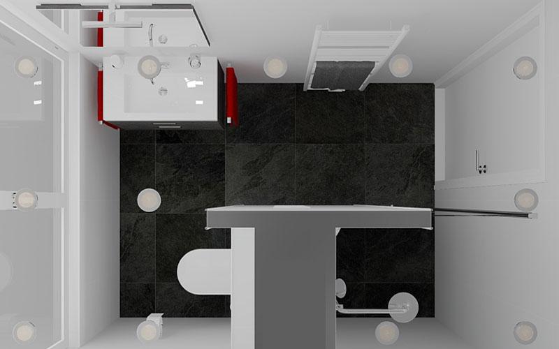 Badkamer Lepelstraat, toilet in badkamer of apart