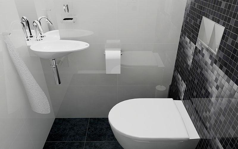 Badkamer gyproc tegels beste inspiratie voor huis ontwerp - Een wc decoreren ...