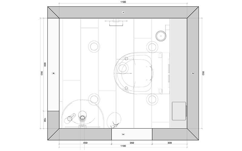 Vaak Klein toilet GD93