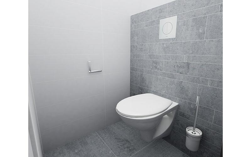 Klein en strak toilet in wit grijs - Deco toilet grijs en wit ...