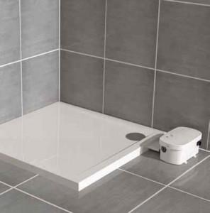 sanibroyeur sanifloor een inloopdouche op elke gewenste plaats. Black Bedroom Furniture Sets. Home Design Ideas