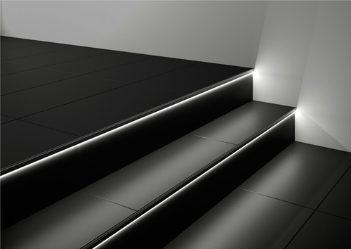 Led Verlichting Badkamer : Schluter liprotec led verlichting brengt sfeer in de badkamer