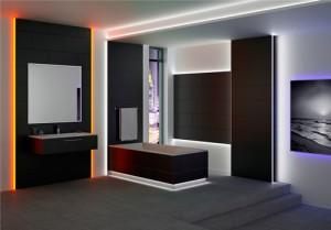 Schuter led sfeerverlichting in de badkamer