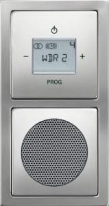 Busch radio in de badkamer