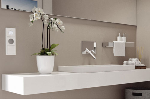 busch inbouwradio geschikt voor de badkamer, Badkamer