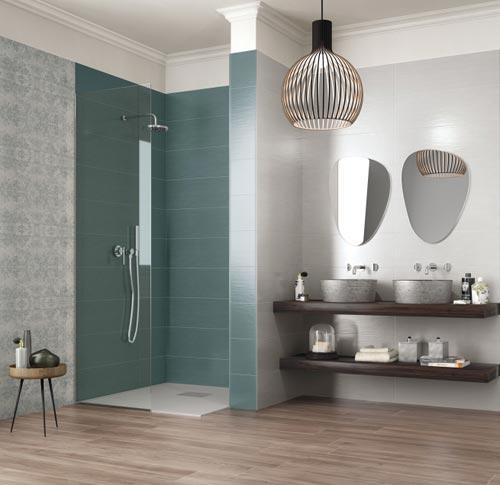 Supergres model tegels met evenwichtige tinten - Badkamer modellen met italiaanse douche ...