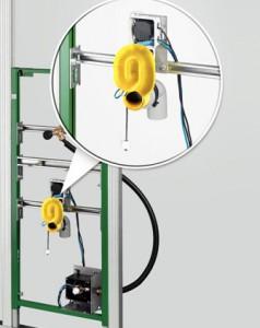 Viega urinoirspoeler met sensor