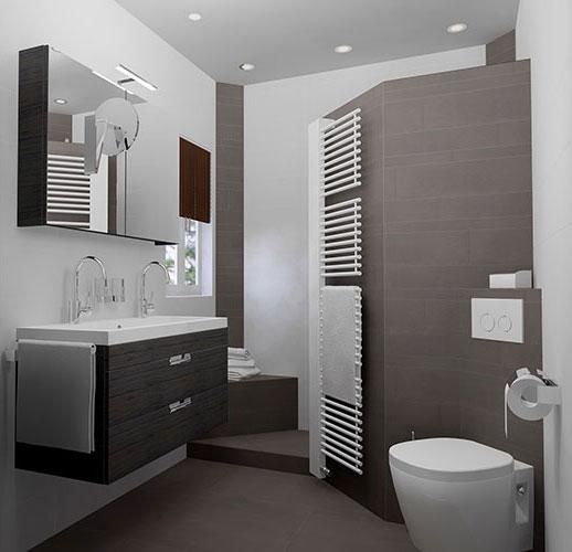 3D badkamerontwerp kleine badkamer