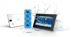 AquaSound tablet met soundbox