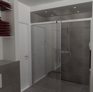 Ontwerp moderne badkamer