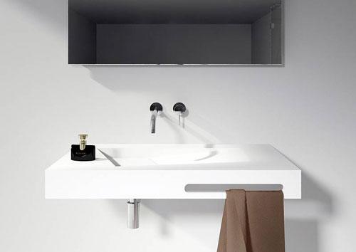 Riho lorient wastafel en burgos vrijstaand bad in solid surface - Toilet wastafel ...