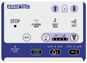 Aquatec PureBidet afstandsbediening