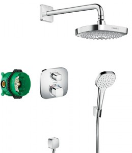 Hansgrohe Croma Select-E complete doucheset