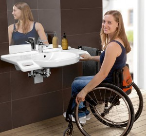 Villeroy & Boch O.Novo Vita rolstoelvriendelijke wastafel