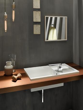 Alape 2step en nieuwe varianten op unisono en metaphor wastafels - Wastafel rechthoekig badkamer ...