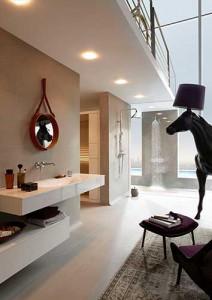 Loft douche badkamer