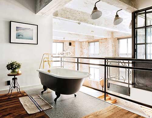 Inspiratie voor badkamerdesign een loft badkamer