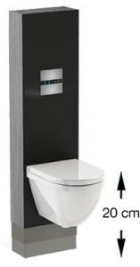 Wisa VarioTronic in hoogte verstelbaar toilet