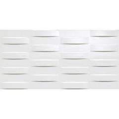 Atlas Concorde 3D Wall grid white glossy decortegel 40x80 8DGG