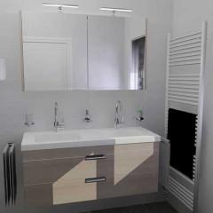 Verwonderend Badkamer aanbieding 15 complete badkamer met dubbel meubel WX-35