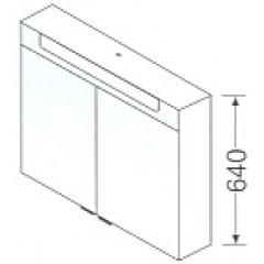 Burgbad Chiaro badmeubelset 101cm inclusief dubbele waskom en spiegelkast wit glanzend F0702SET1002C1