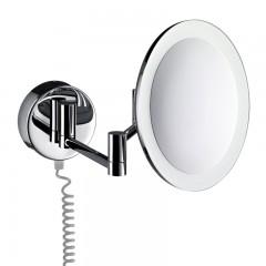 Emco scheerspiegel met LED verlichting met snoer wandmodel chroom 109500121