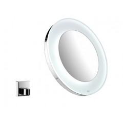 Emco scheerspiegel met LED-verlichting met accu (factor 3) 26.5cm Ø chroom 109600123