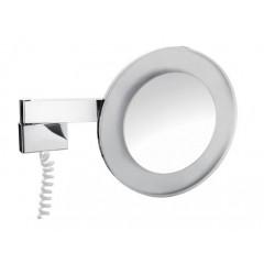 Emco scheerspiegel met LED-verlichting met snoer (factor 3) 26.5cm Ø chroom 109600129