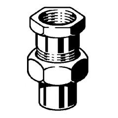 Viega Soldeerfitting 3 delige koppeling 22x3/4