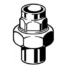Viega Soldeerfitting 3 delige koppeling 28mm conische dichting messing 107604