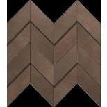 Atlas Concorde Dwell Floor Design brown leather chevron 3D decortegel 30,8x35,1 A1DO