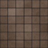 Atlas Concorde Dwell Floor Design brown leather mozaiek 4,8x4,8 0 30x30 A1C1