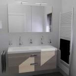 Badkamer aanbieding 15 complete badkamer met dubbel meubel, inloopdouche en toilet