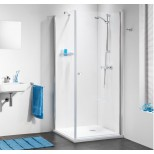 Get Wet C105 swingdeur met zijwand 100x100x195 chroom helder glas CH18100D310100