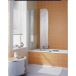 Kermi Atea badklapwand 75x150cm rechts met KermiClean glanszilver/helder ATDFR07515VPK
