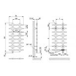 Kermi Ideos designradiator 1150x758mmm 564W wit (RAL 9016) IDN101200752XXK