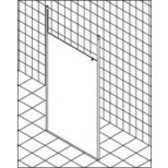 Kermi Walk-in XS douchewand Free 120x200cm met plafondsteunen met KermiClean glanszilver/helder XSFD112020VAK