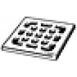Viega Advantix rooster voor doucheput 9,4x9,4x5cm rvs 554026