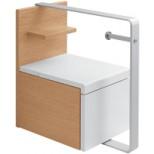 Villeroy & Boch Lifetime toiletmeubel met closetrolhouder 35x51x48cm acacia A507H0EB