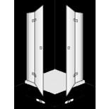 Villeroy & Boch Subway draaideur voor hoekinstap 100x190cm links chroom/helder DW0100SUB204LIV61