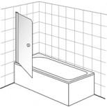 Villeroy & Boch Frame To Frame badwand 1 delig 70x150cm Vilboclear chroom/ helder DW0070LOG170V61